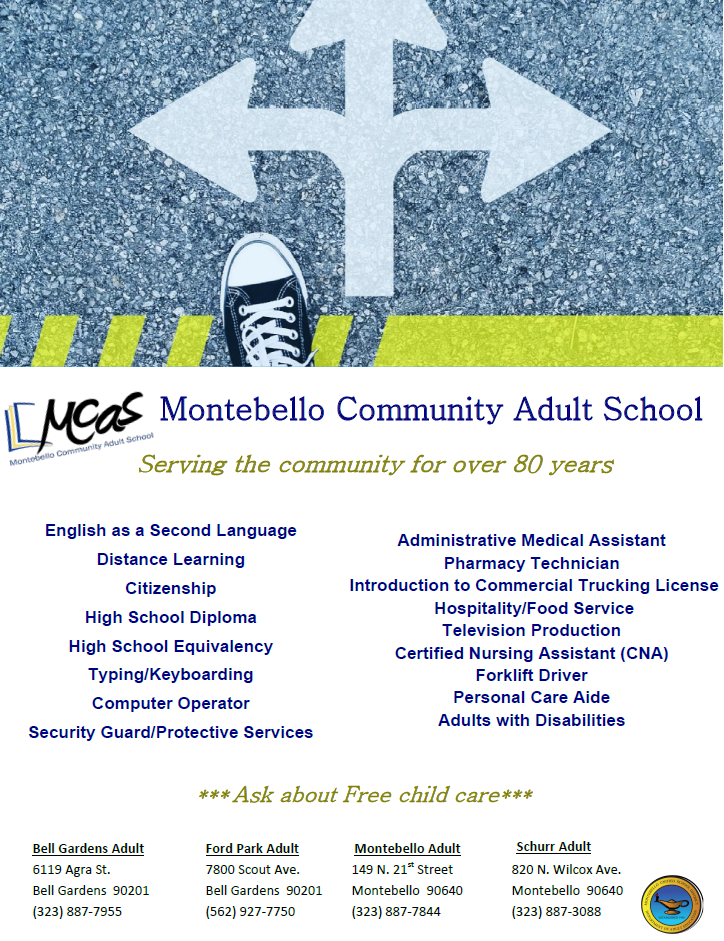 Adult School Flier